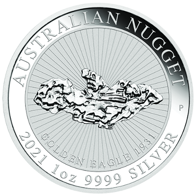 1 Oz. AUSTRALIAN NUGGET - Golden Eagle - 2021