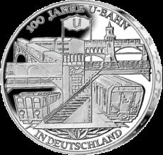 10 Euro - 100 Jahre U-Bahn in Deutschland (2002 - Spgl.)