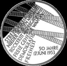 10 Euro - 17. Juni 1953 - Volksaufstand in der DDR (2003 - Spgl.)
