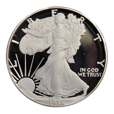 1 Oz. USA - American Eagle 1986 (Proof) - S - Originalbox + COA