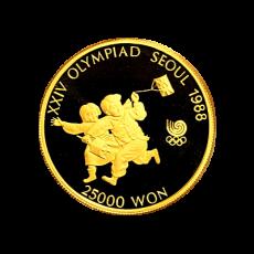 25.000 Won - Olympiade Seoul - Kite Flying 1987
