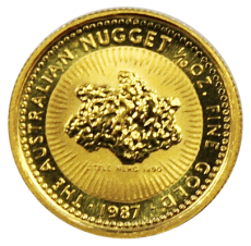 1/10 Oz. Australien - Nugget/Känguru 1987