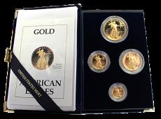 1,85 Oz. USA - American Eagle Proof Satz - 1988