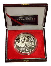 12 Oz. China - Panda 1989 (Proof) incl. Originalbox + COA