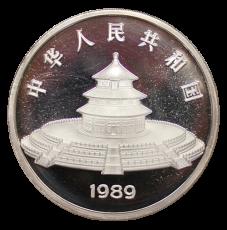 5 Oz. China - Panda 1989 (Proof) incl. Originalbox + COA