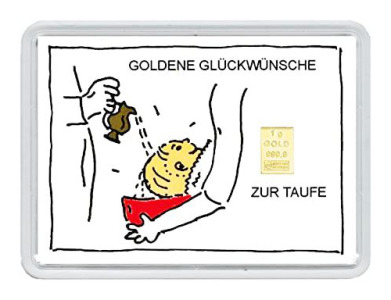 1 Gramm Goldbarren - zur Taufe - (Motiv)
