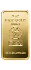 1 Unze Goldbarren (Heimerle + Meule, Pforzheim)