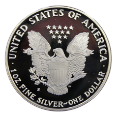 1 Oz. USA - American Eagle 1990 (Proof) - S - Originalbox + COA