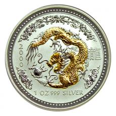 1 Oz. Australien - Drache 2000 (Lunar I - gilded)