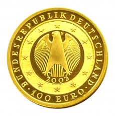100 Euro BRD - Einführung d. Euro 2002  -  F