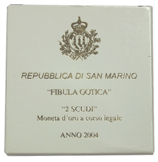 San Marino - 2 Scudi 2004 - FIBULA GOTICA