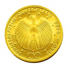 100 Euro BRD - Fußball-WM 2005  -  J