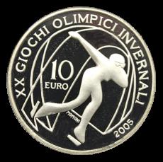 10 Euro Italien 2005 - Winterolymp. Turin 2006 - Eisschnelllauf (Proof)