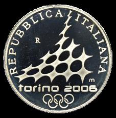 10 Euro Italien 2005 - Winterolymp. Turin 2006 - Ski Alpin (Proof)