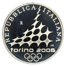 5 Euro Italien 2005 - Winterolymp. Turin 2006 - Eiskunstlauf (Proof)