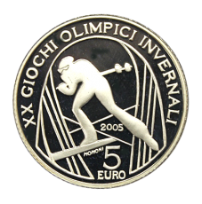 5 Euro Italien 2005 - Winterolymp. Turin 2006 - Skilanglauf (Proof)