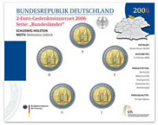 2 Euro Münzenset 2006 - Schleswig-Holstein