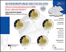 2 Euro Münzenset 2010 - Freie Hansestadt Bremen