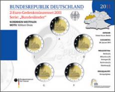 2 Euro Münzenset 2011 - Nordrhein-Westfalen