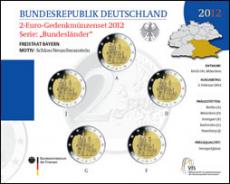 2 Euro Münzenset 2012 - Bayern