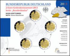 2 Euro Münzenset 2013 - Baden-Württemberg