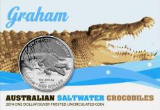 """1 Oz. Australien - Salzwasser-Krokodil """"Graham"""" - 2014"""