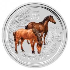 1 Oz. Australien - Pferd 2014 (Lunar II - coloriert)