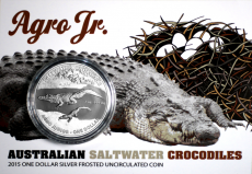 "1 Oz. Australien - Salzwasser-Krokodil ""Agro Junior"" - 2015"