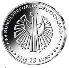 25 Euro BRD - 25 Jahre Dt. Einheit - 2015  -  G