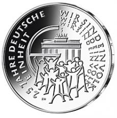 25 Euro BRD - 25 Jahre Dt. Einheit - 2015  -  J