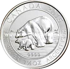 1,50 Oz. Canada - Polarbär mit Jungem 2015