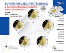 2 Euro Münzenset 2015 - Hessen