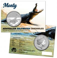 """1 Oz. Australien - Salzwasser-Krokodil """"Monty"""" - 2016"""