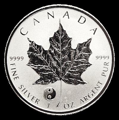 """1 Oz. Maple Leaf 2016 - Privy """"Yin Yang"""""""