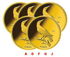 5 x 20 Euro BRD - Pirol  2017 (A,D,F,G,J)