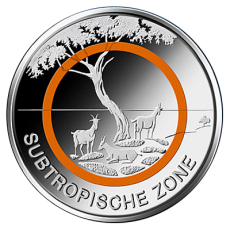 5 Euro BRD - Subtropische Zone - 2018  (Stgl.)