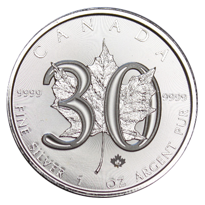 1 Oz. Canada - 30 Jahre Maple Leaf 2018