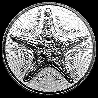 1 Oz. Cook Islands 2021 - Starfish