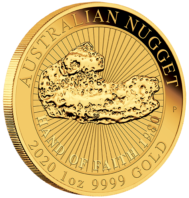 1 Oz. AUSTRALIAN NUGGET - Hand of Faith - 2020