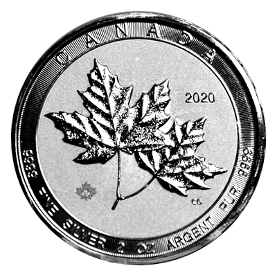 2 Oz. Canada - Twin Maple Leaf 2020