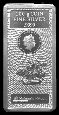100 Gramm Cook Islands 2020 - Münzbarren (Silber 999.9)