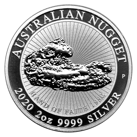 "2 Oz. Australien - AUSTRALIAN NUGGET ""Hand of Faith"" 2020 (2. Motiv)"