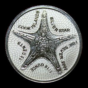 1/10 Oz. Cook Islands - Starfish 2021