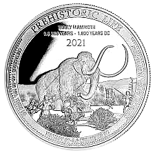1 Oz. Rep. Congo - Wooly Mammoth 2021