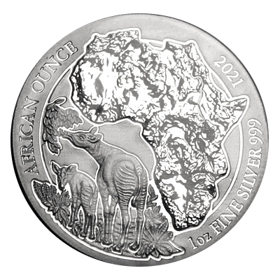 1 Oz. Ruanda - Okapi 2021