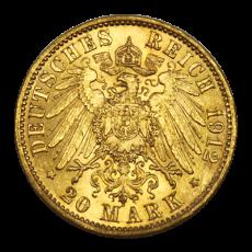 J 252 - 20 Mark Preußen - Wilhelm II - 1892