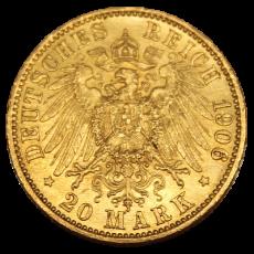 J 252 - 20 Mark Preußen - Wilhelm II - 1906 (J)