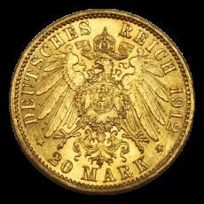 J 252 - 20 Mark Preußen - Wilhelm II - 1912 (J)
