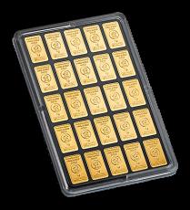25 x 1 Gramm Goldbarren (Heimerle + Meule, Pforzheim)