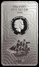 500 Gramm  Cook Islands 2017 - Münzbarren  (Silber  999.9) - Neues Design